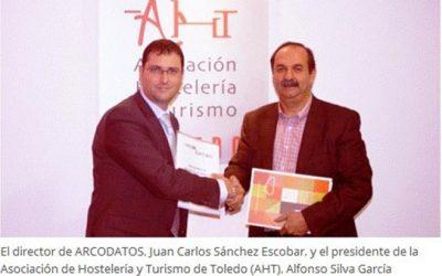 Convenio entre arcodatos y la asociación de hostelería y turismo de Toledo