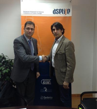 Convenio entre Arcodatos y la Asociación Empresarial de Toledo de Instaladores de Fluidos y Energía (ASETIFE)